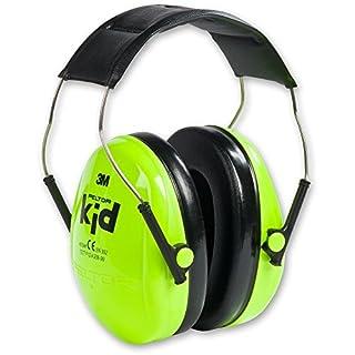 3M Peltor Kid Kapselgehörschützer neongrün – Kinder Gehörschutz mit verstellbarem Kopfbügel für Lärm bis 98dB – SNR 27 Hörschutz mit hohem Tragekomfort & geringem Gewicht