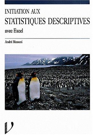 Initiation aux statistiques descriptives