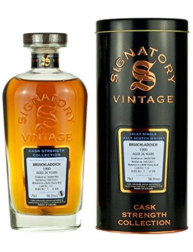 Signatory Vintage Bruichladdich Collection 1990 Scotch di Malto Singolo Invecchiamento 26 Anni - 700 ml