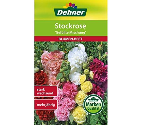 """Dehner Blumen-Saatgut, Stockrose, """"Gefüllte Mischung"""", 5er Pack (5 x 1.5 g)"""