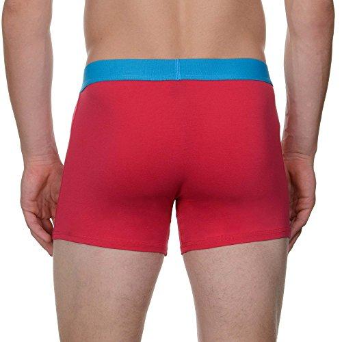 bruno banani Herren Shorts, 2er Pack Mehrfarbig (aquablau// Himbeere 2153)