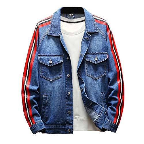 3-knopf-gerippte Hoodie (Oyedens Jeansjacke MäNner, Trend Not Dead Herren Retro Jacke Mantel Knopf Gewaschen NäHte Vintage Wash Distressed Jeansjacke Mantel Top Bluse)