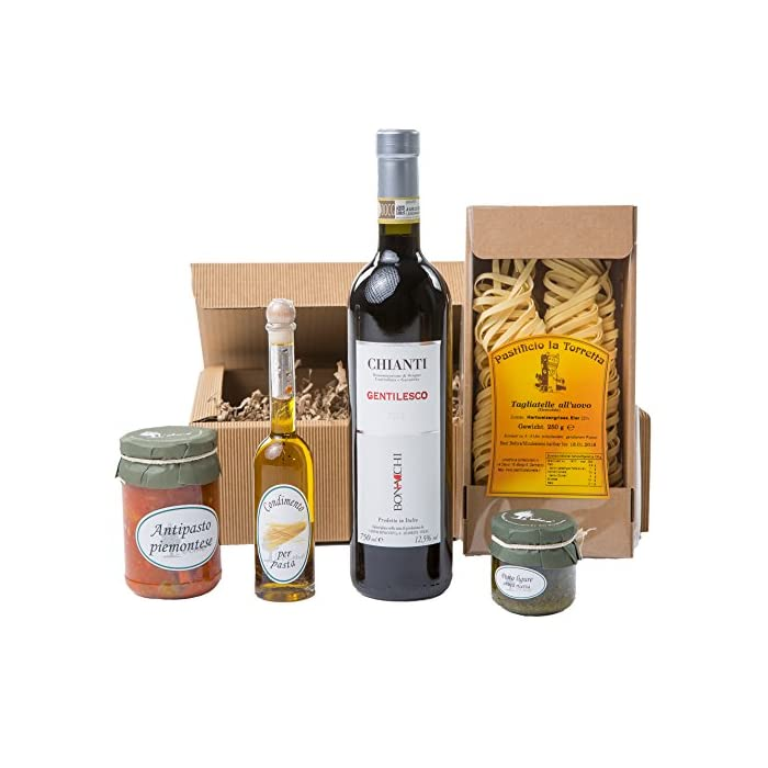 Geschenkset Tavola Italiano Piemonteser Feinkost und Chianti (1 x 0.75 l) 1