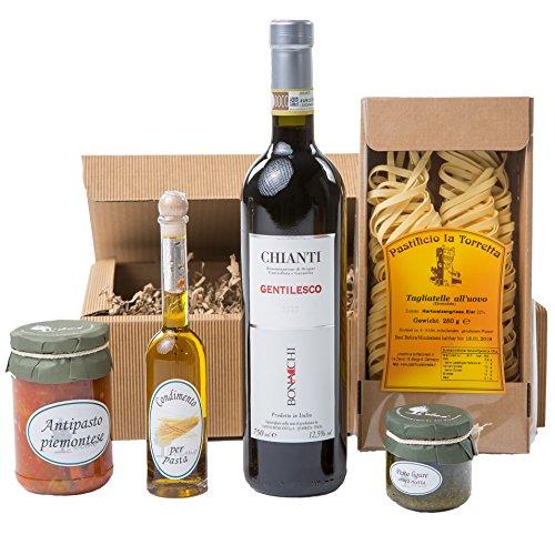 Chianti-wein-flasche (Geschenkset Tavola Italiano Piemonteser Feinkost und Chianti (1 x 0.75 l))