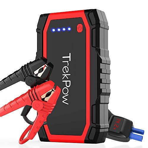 TrekPow A18 Jump Starter 800A Avviatore Batteria Auto (per Motori 12V Benzina 6L e Diesel 5L), Avviatore Emergenza Portatile con USB QC3.0 & Tipo C, Starter Batteria Auto Moto