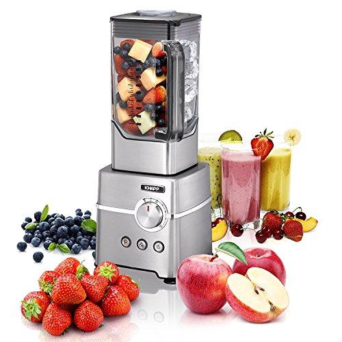 KHAPP 15180005 Power Standmixer für Smoothies, Shakes und Babynahrung,Smoothiemaker, Mixer mit Ice Crush Funktion, Smoothie Maker mit 2.7 PS (2000 Watt Power Motor) für bis zu 32.000 Umdrehung pro Minute