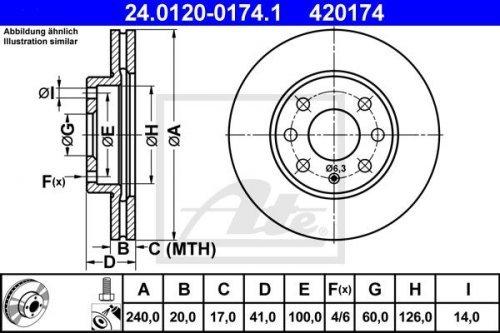 ATE 24012001741 Bremsscheibe - (Paar)