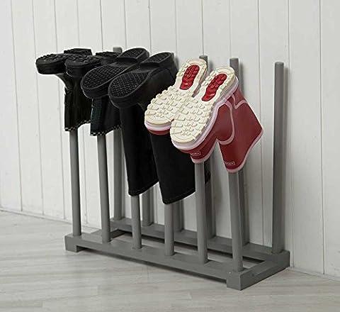Floor Standng Boot Rack Wellington Holder Grey