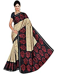 Winza Women's Manipuri Cotton Silk Saree With Blouse