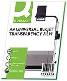 Q-Connect KF26074 - Fogli per lavagna luminosa e stampanti a getto di inchiostro, 50 pezzi