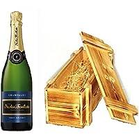 Nicolas Feuillatte Champagner Brut in Holzkiste geflammt 12% 0,75l Fl.
