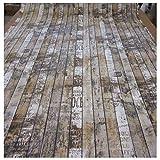 Unbekannt Stoff Meterware Bretter Holz Zaun Shabby Vintage Paneele Fotodruck