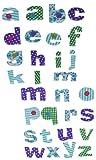 30 tlg. Set Sticker / Aufkleber Textil -