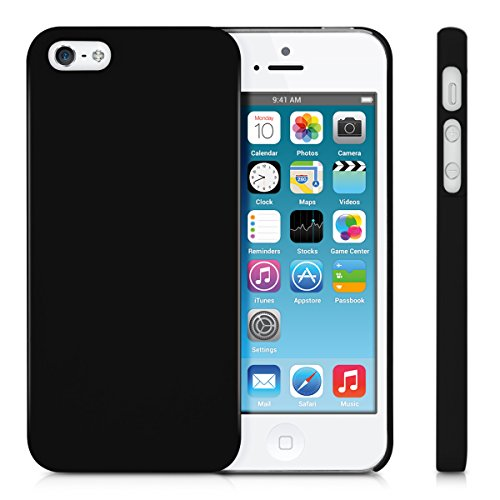 kwmobile Hülle für Apple iPhone SE / 5 / 5S - Backcover Case Handy Schutzhülle Kunststoff - Hardcase Cover Marmor Design Schwarz Weiß .Schwarz