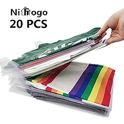 Nifogo Organisateur d'armoires, Dossier et Chemise de t-Shirt de Taille Normale (20pack)