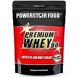 PREMIUM WHEY 90 - Mit 51,00% CFM Whey Isolat - Weidenmilch Molkenprotein mit 90% i.Tr. Proteingehalt - Perfekt für Muskelaufbau & Abnehmen - Extrem lecker - Made in Germany - 850g (Strawberry)