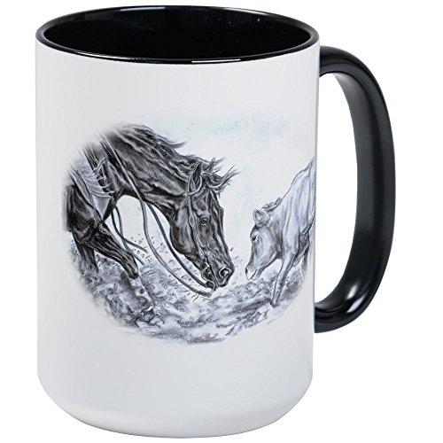 (CafePress–Schneiden Pferd–Kaffee Tasse, groß 15Oz Weiß Kaffee Tasse, keramik, White/Black Inside, Large)