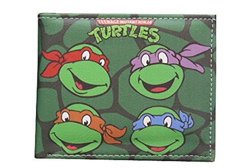 Teenage Mutant Ninja Turtles TMNT Geldbörse, PU-Leder - Grün - Einheitsgröße