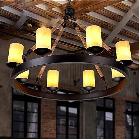 BBSLT Retro-iluminación, sala, comedor, luminoso, creativo, hierro, bares, bar, cuerda colgante