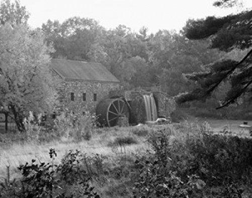 USA Massachusetts Sudbury old Grist Mill Poster Drucken (45,72 x 60,96 cm) -