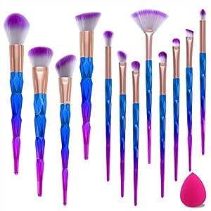 Brochas de Maquillaje,12pcs Maquillaje Profesional