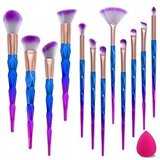 Juego de brochas de maquillaje Misspicy, pincel delineador, colorete, corrector, abanico, contorno, etc., 12 brochas