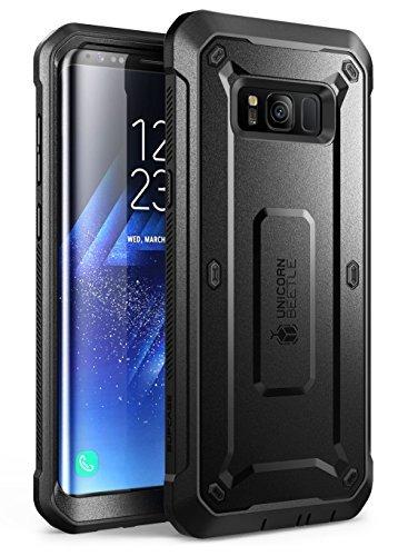 SUPCASE Samsung Galaxy S8 Hülle Unicorn Beetle PRO Outdoor Case Handyhülle Schlagfest Schutzhülle Cover mit Gürtelclip OHNE Displayschutz (Schwarz)