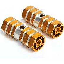 2 reposapiés hexagonales CY-Buity antideslizantes de aleación de aluminio, para bicicletas BMX