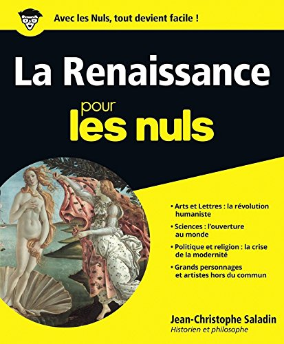 La Renaissance pour les Nuls grand format