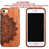 CoCo@ iPhone 7 Case,CoCo Laser Carving Marked Wood Case wooden Case Cover with Durable Polycarbonate Bumper Slim Covering Case for Apple iPhone7 (mandara rosewood)