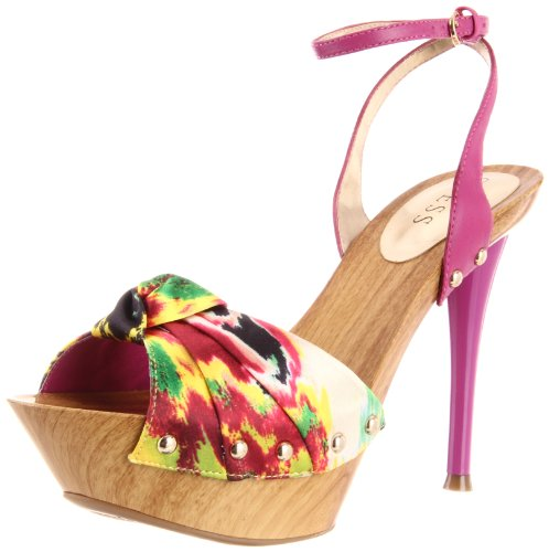 Guess Yamini High Heels- Yellow Multi Satin/Größe 41 Guess High Heel Heels