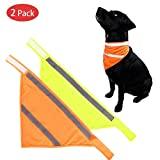 RCRuning-EU 2PCS Collier Bandana Triangle pour Chien for Medium Large Foulard Chien Chat Animaux Accessories-L Yellow Orange