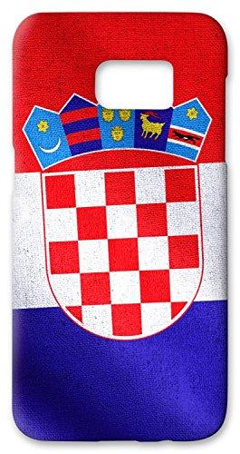 "Preisvergleich Produktbild atFoliX Schutzhülle Samsung Galaxy S7 Edge Hülle ""Kroatien Flagge"" FX-Case"