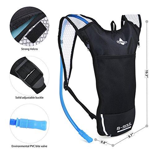 Vbiger Sacca Idratazione Impermeabile Zaino per Ciclismo, Escursionismo, Corsa, Campeggio, Camminata Blu
