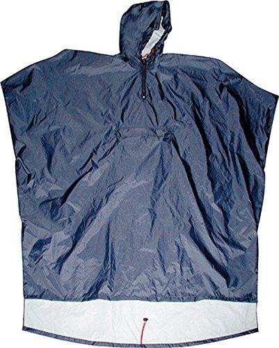Poncho Explorer - Scippis Regenponcho mit Kapuze, wasserdichter Regenumhang, Regenschutz für Damen und Herren Blau
