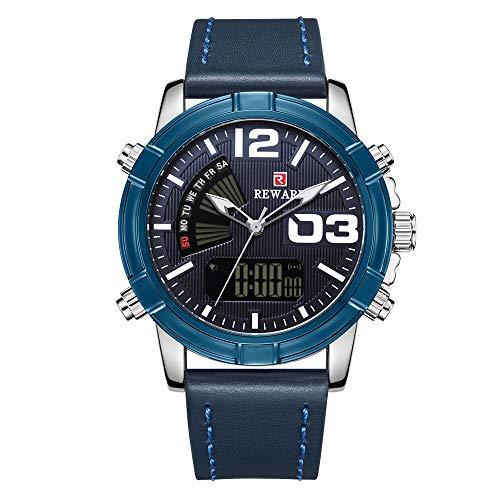 Tziuz Multifunktions-Dual-Display-LED-Dual-Bewegung Elektronische Uhr Outdoor-Bergsteigen Leuchtende wasserdichte Männliche Uhr -