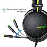 EUKYMR Over-The-Ear Gaming Earphone with Microphone