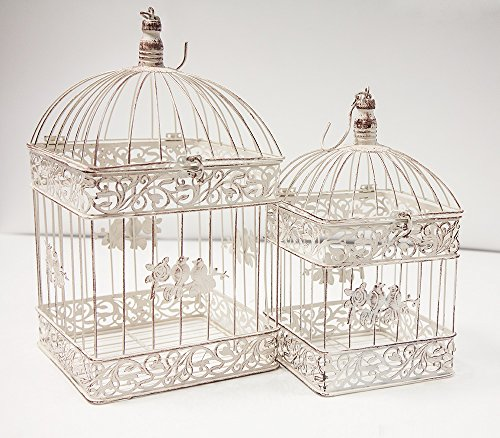 Rustic Square Birdcage Set of 2 ...