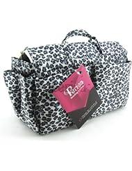 Periea - Organiseur de sac à main + mousqueton, 13 Compartiments - Nikki (Argent)