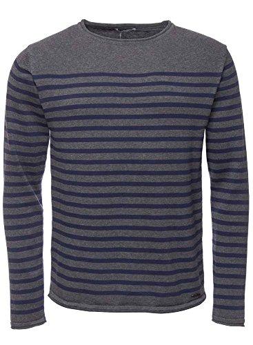 LTB Jeans -  Maglione  - Uomo Grau (grey navy stripe) L