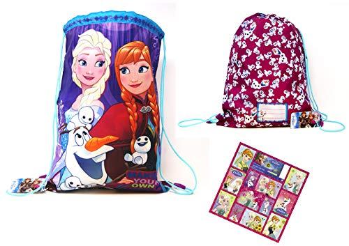 aedcabfcb8 Die Eiskönigin Disney - Frozen - Turnbeutel/Kinder  Schwimmtasche/Sportbeutel/Schuhbeutel - +