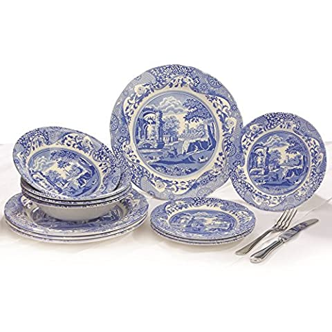 Spode Blue Italian - Made in England (12 Piece Dinner