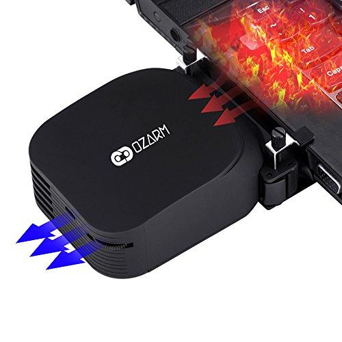 OZARM KeepCool Refroidisseur PC portable Ultra Compact - Extracteur d'air chaud USB pour ordinateur portable - Version Nomade 2018 Finition luxe