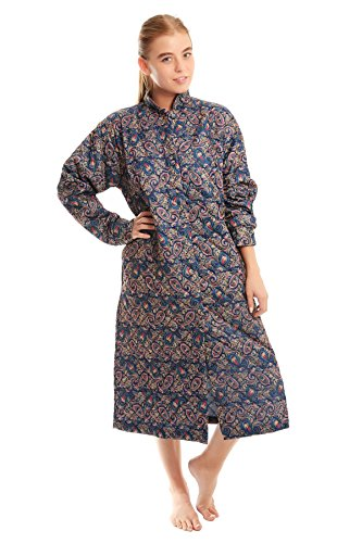 Undercover Ltd Womens Paisley Quilted Button Through Dressing Gown 16-18 - Womens Quilted Button
