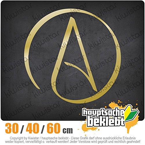 KIWISTAR - Atheismus - Atheist Heckscheibe in 15 FARBEN Aufkleber Sticker