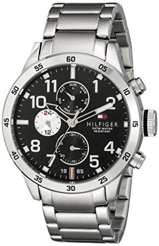Tommy Hilfiger Men's 1791141 Cool Sport Analog Display Quartz Silver Watch