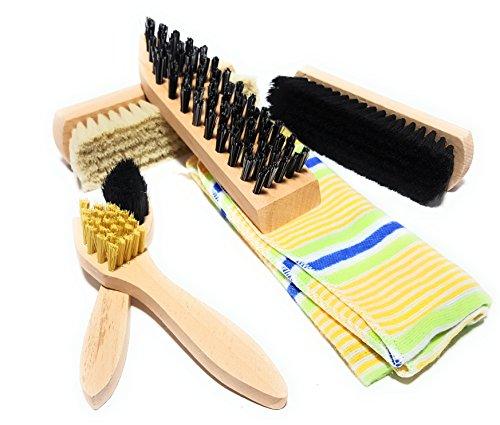 Bambelaa!! Schuhputz-Set Schuhbürsten 6-teilig Schuhpflege Reinigung Tasche Aufbewahrung