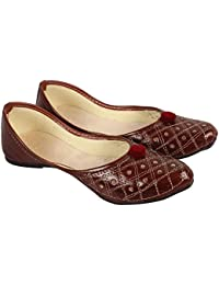 DFR Brown Color Rajasthani Latest Belly Juti for Women and Girls Color Brown