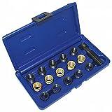 A-62269 Satz Zündkerzengewinde Reparatur M14x1,25mm mit 15 EinsäTZE + Schneider