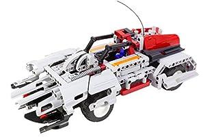 Tekno Toys 85000016-Active Bricks RC 2in1Set de Coche Deportivo, Gris